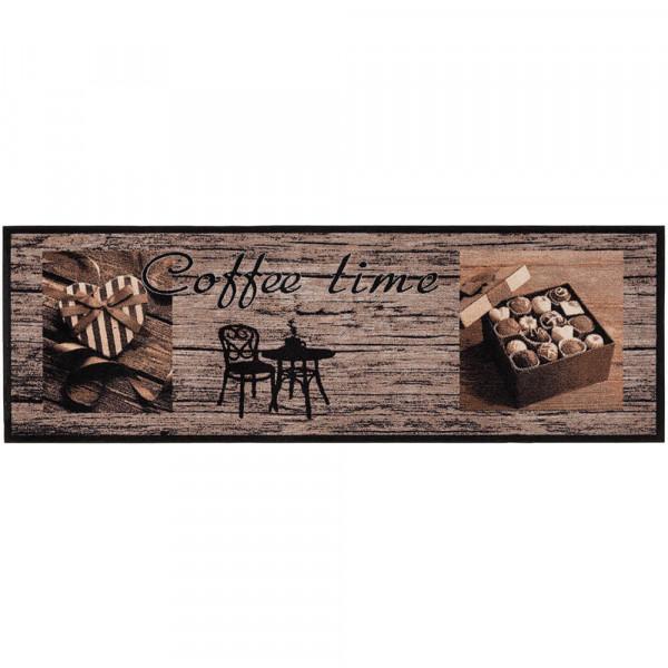 Küchenläufer Coffee Time Wood
